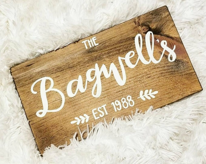 SALE! Family Name Signs