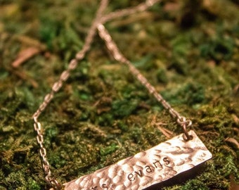 Dainty Name Plate Necklace