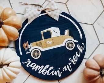 Ramblin Wreck Tech Door Hanger