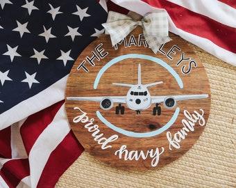 Navy Family Airplane/Anchor Door Hanger