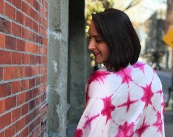 Hand-dyed Madder + Cochineal Boho Kimono | Kimono Cardigan | Kimono | Fashion Outerwear