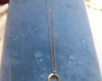 Open Circle Pendant Necklace from Germany
