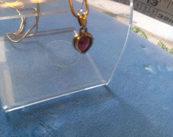 REDUCED  Amethyst Heart in 14K with 17 inch 14K Chain