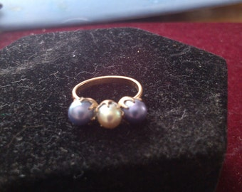3 Pearls and Pink Gold