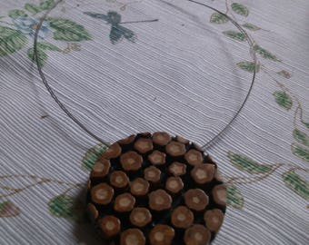 Flowerlike Disc Necklace from Germany