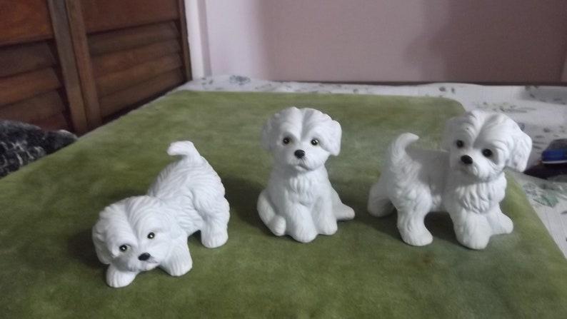 3rd Bisque White Puppy 339
