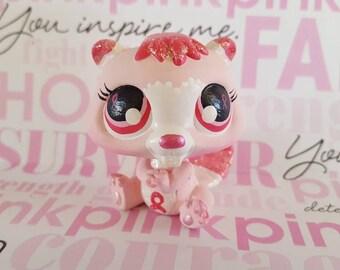 Marshmallow Cocoa Fairy Wings OOAK Custom Littlest Pet Shop Repaint LPS