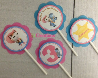 Sheriff Callie Cupcake Toppers - set of 12