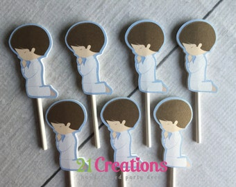 First Communion Cupcake Toppers - set of 12