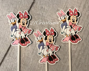 Minnie and Daisy Cupcake Toppers - Minnie's Bowtique