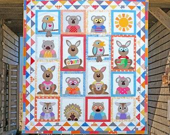 Animal quilt pattern etsy