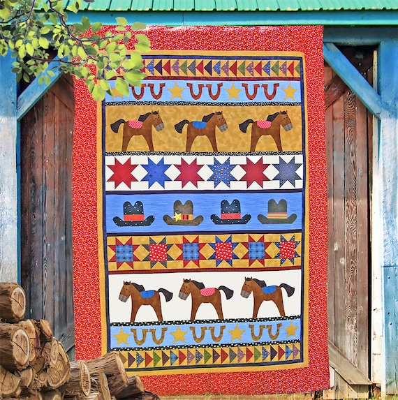High Noon Pdf Quilt Pattern Quilt Patterns Patterns Horse