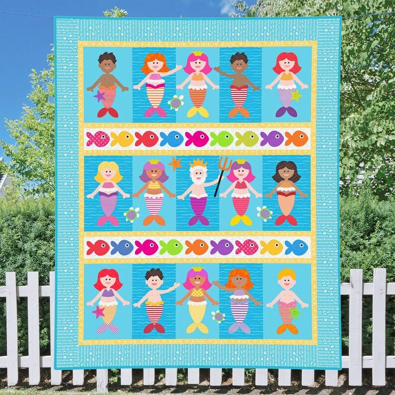 Little Mermaids PDF Quilt Pattern  Quilt Patterns  PDF image 0