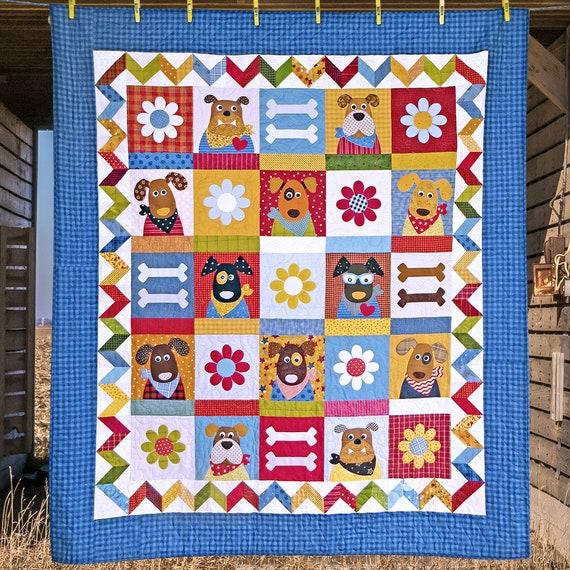 The Kennel Club Pdf Quilt Pattern Quilt Patterns Kids Etsy