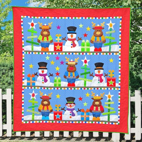 Frosty S Christmas Pdf Quilt Pattern Pdf Patterns Etsy