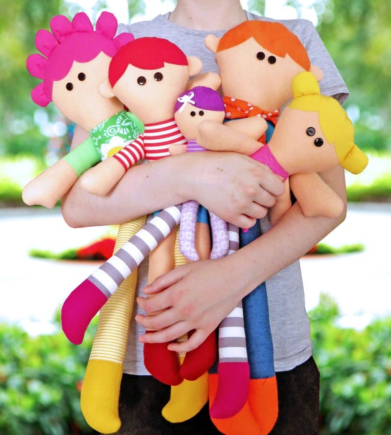 My Family PDF Doll Pattern | Patterns | Kids | Cloth Dolls | Rag Dolls | Toys | Soft Toys | Kids Dolls | Easy Doll Pattern