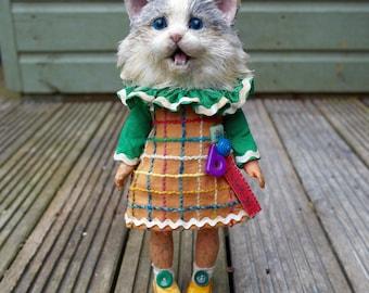 """I won't go"""" Kitten. In The Nursery."""