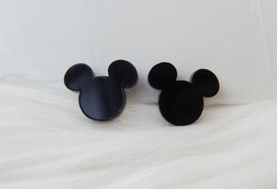 0df327d86 Disney Mickey Mouse silhouette stud sterling silver earrings   Etsy