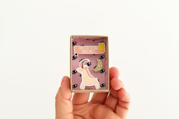 Crotte de licorne toute molle small message box / Miniature Art / Diorama / 3d Art / Decorative Matchbox / Miniature paper diorama / Love