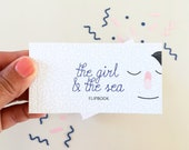 Flipbook, animated book, folioscope The girl and the sea, miniature book, miniature, birthday gift, love gift, gift couple