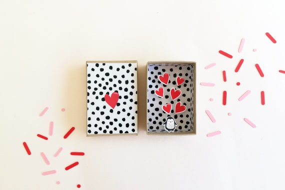 Box diorama message love little message box, Valentine's day, Valentine, love, gift Valentine's day, Valentine's day gift
