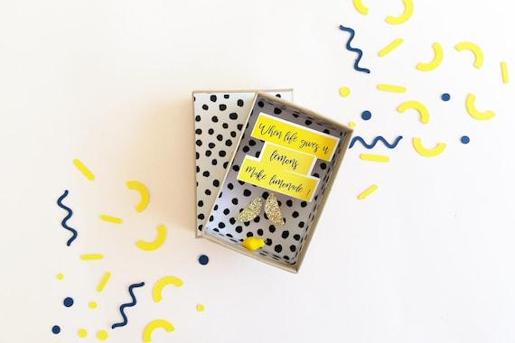 When life gives you lemons, make lemonade - Birthday gift - Little decoration - Wedding gift