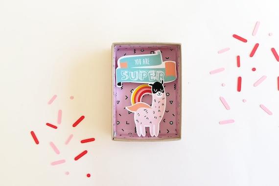 You are super message box / Miniature Art / Diorama / 3d Art / Decorative Matchbox / Miniature paper diorama / Love gift
