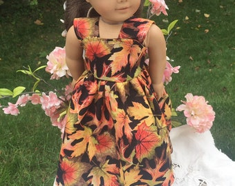 18 in fall harvest dress American Girl Doll gown, welliewishers doll dress Halloween dress handmade bejustmedollclothes