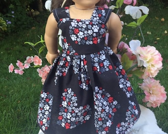 """18 inch doll dress 18"""" dresses puppy fabric Be Just  Me Doll Clothes fits American Girl Dolls play Clothes"""