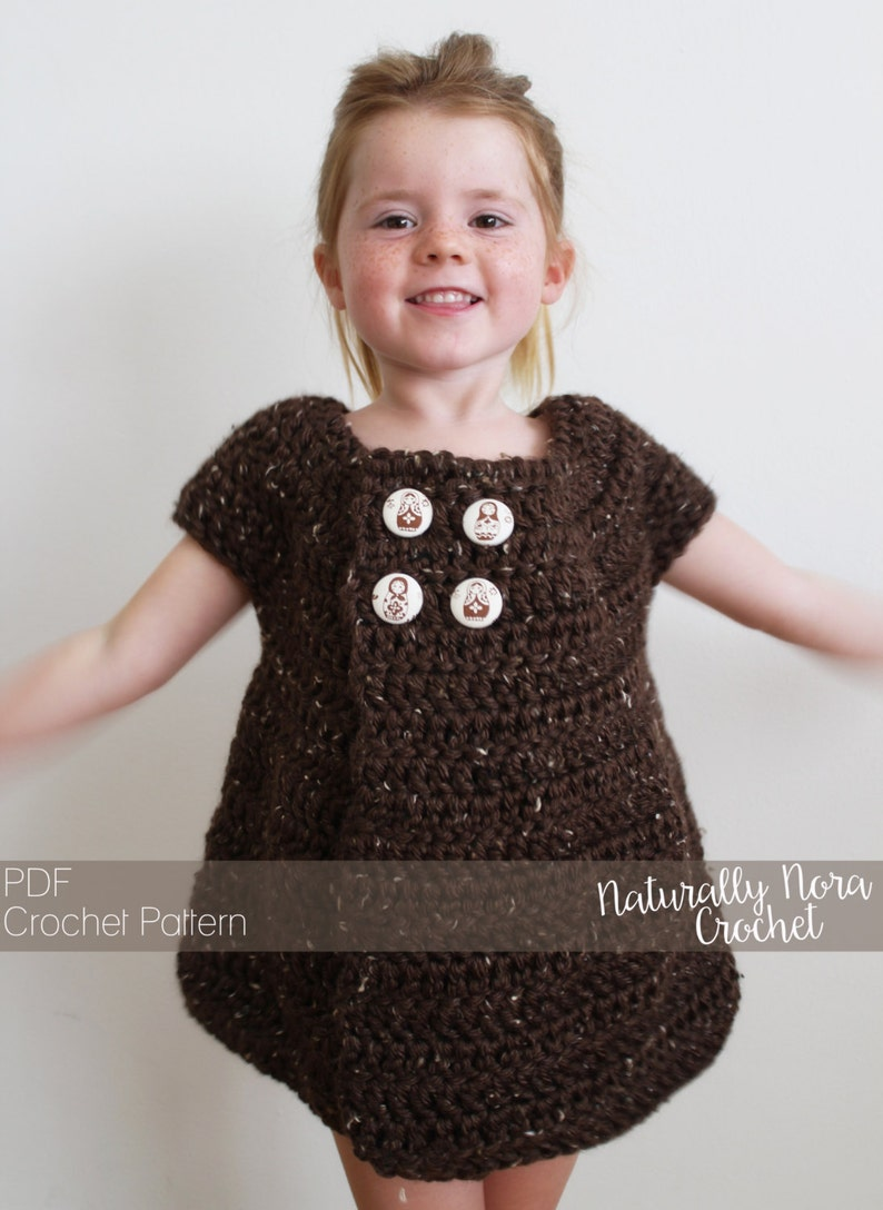 a4d9bdfe4d2 Crochet Pattern  The Sally Swing Sweater 2 3T 4.5T Child