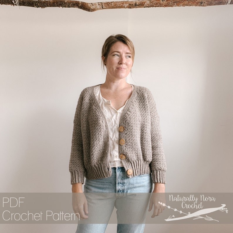 Crochet Pattern: The Herbaceous Cardigan Sizes Adult XS to 2XL image 0