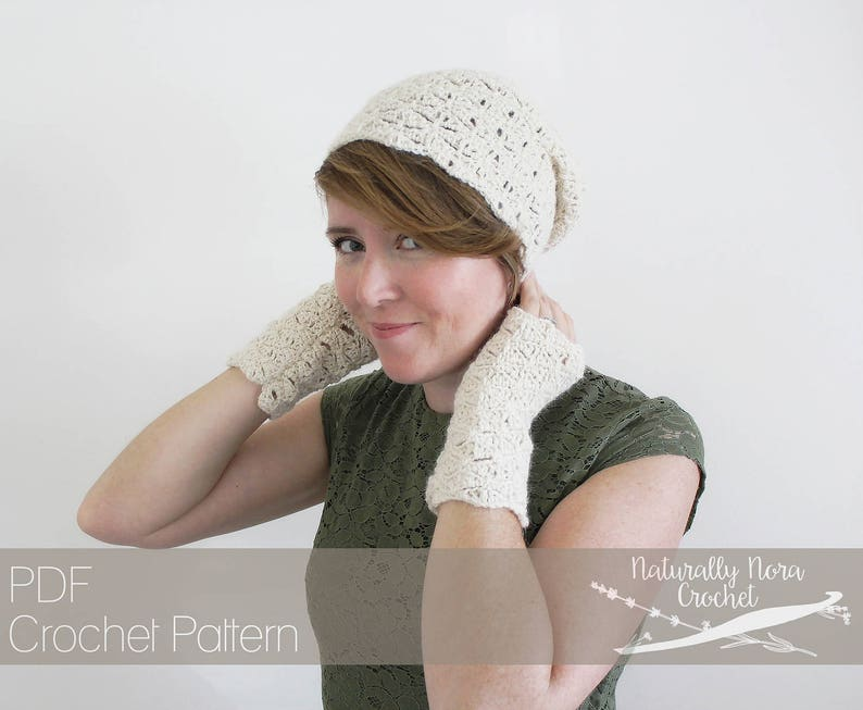 02e1d70c5c9 Crochet Pattern  Sufficient Grace Beret and Mitts Toddler