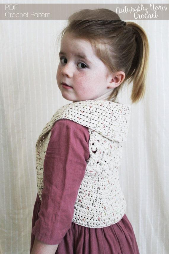 Crochet Pattern The Summer Vest 3 Sizes Included Toddler Etsy