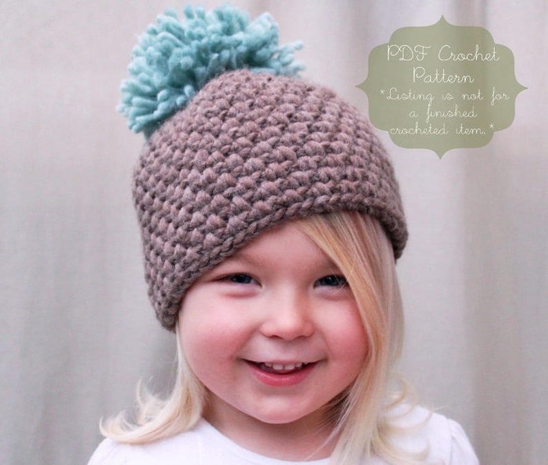 414f598815a Crochet PATTERN  The Tessa Beanie Toddler Child   Adult