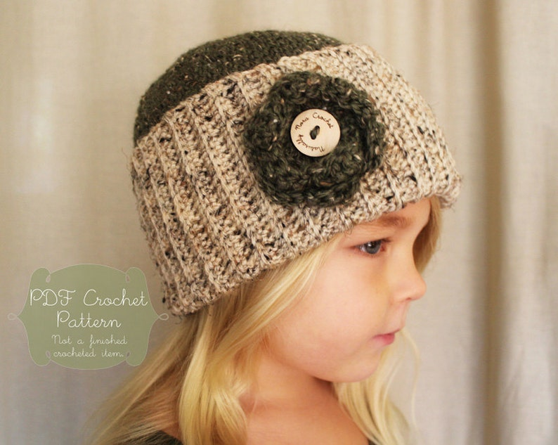 669f42bbed9 Crochet Pattern  The Cadence Cap Toddler Child Adult
