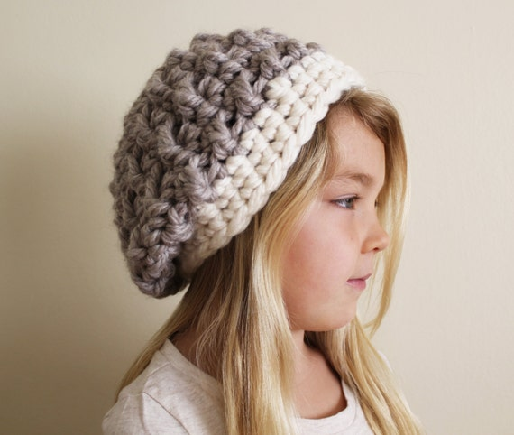 042f121ab Crochet Pattern: The Hadlee Beret -Toddler, Child, & Adult Sizes- slouchy,  beanie, chunky