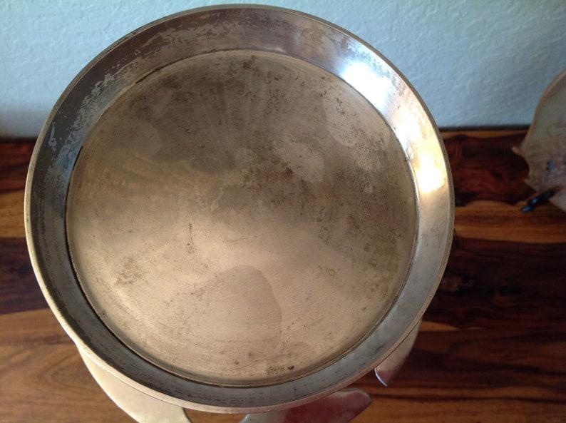 Wallace MCM Nickle Silber Räucherständer, Aschenbecher, Pfeife oder Cognac Stand 21