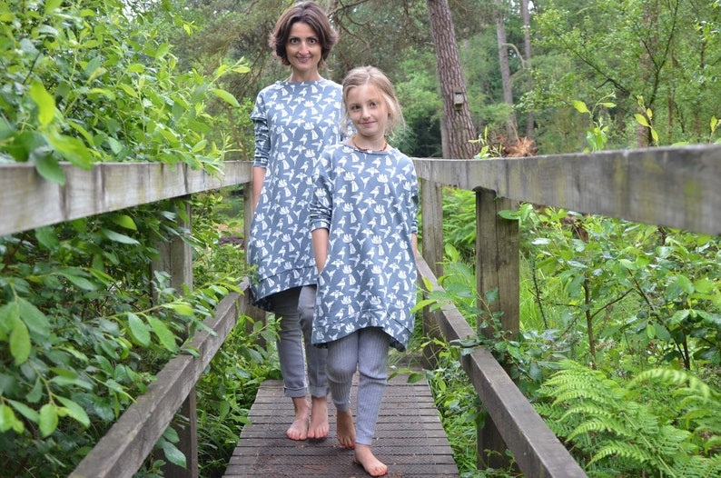 Matching Mom and daughter dresses jersey jumper fall outfit image 0