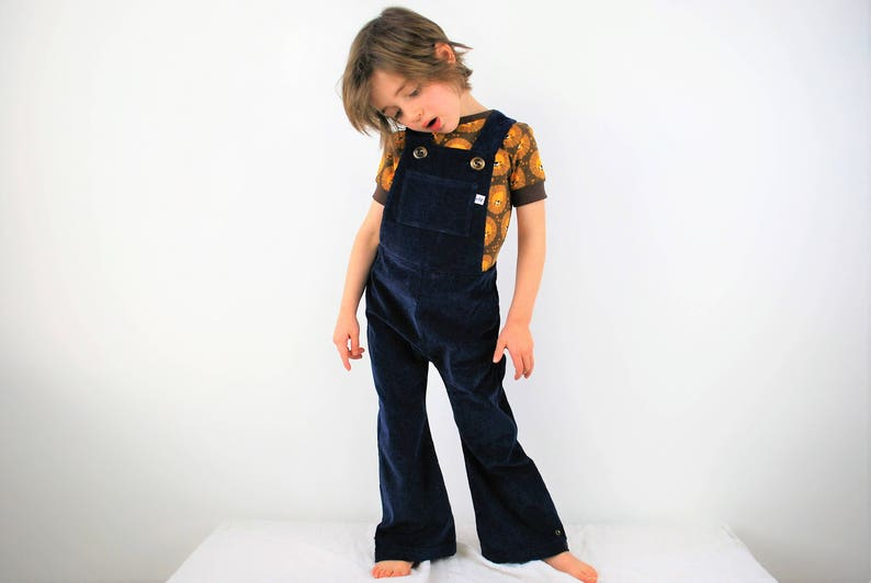 Unisex Navy blue overalls. boys dungarees. girls overalls. image 0