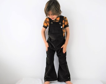 Boys Overalls Kids Dungarees childrens romper in cotton corduroy Unisex traditional retro style outfit