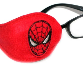 Kids and Adults Orthoptic Eye Patch For Amblyopia Lazy Eye Occlusion Therapy Treatment Spiderman Design