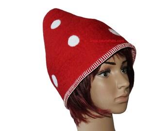 f1a2aa29de9 Dwarf-shaped wool felt Sauna Hat Handmade to size Birthday