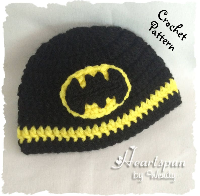 520fe5bbd9a CROCHET PATTERN to make a Batman Hat in 8 sizes baby to