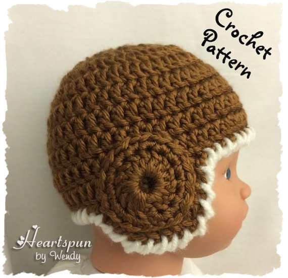 Crochet Pattern To Make An Old School Football Helmet Or Ear Etsy