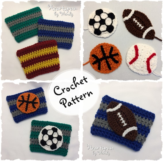 Crochet Pattern To Make A Striped Sports Team Coffee Or Tea Etsy