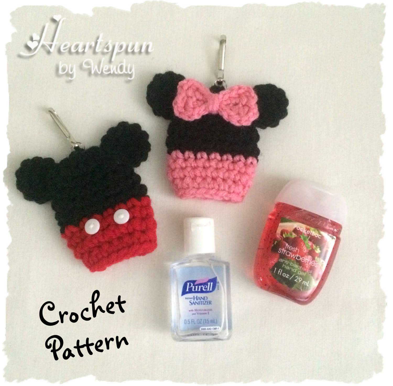 Crochet Pattern To Make A Mickey Mouse And Minnie Mouse Hand Etsy