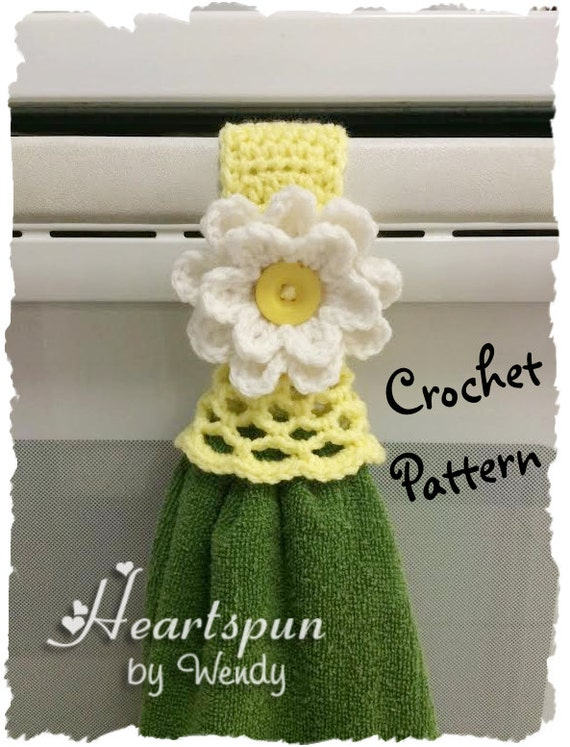Crochet Pattern To Make A Kitchen Or Bath Towel Topper Ring Etsy