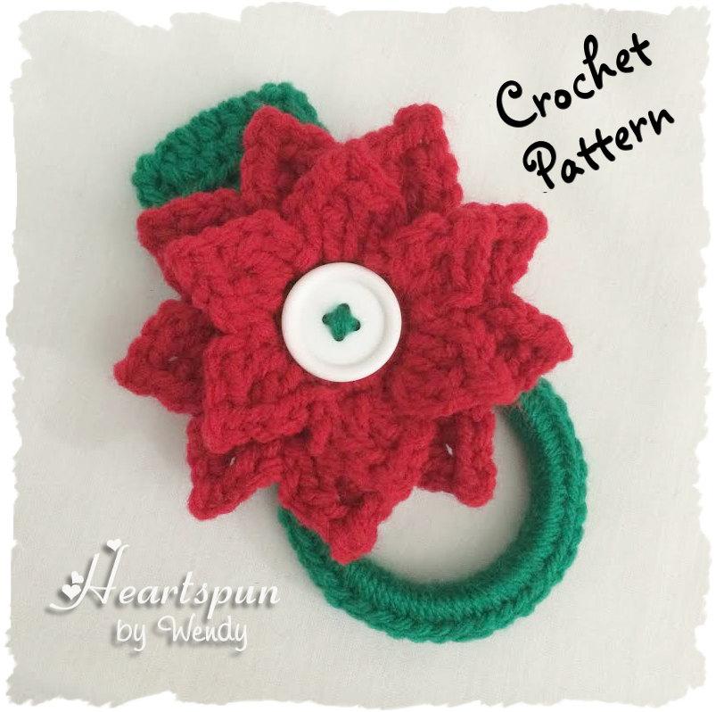 Crochet Pattern To Make A Christmas Poinsettia Kitchen Or Bath Etsy