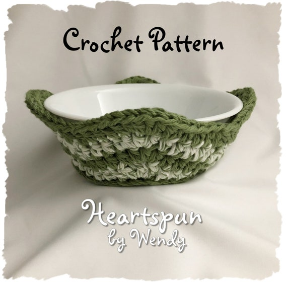 CROCHET PATTERN To Make A Striped Chevron Microwave Bowl Cozy Etsy Stunning Microwave Bowl Cozy Pattern