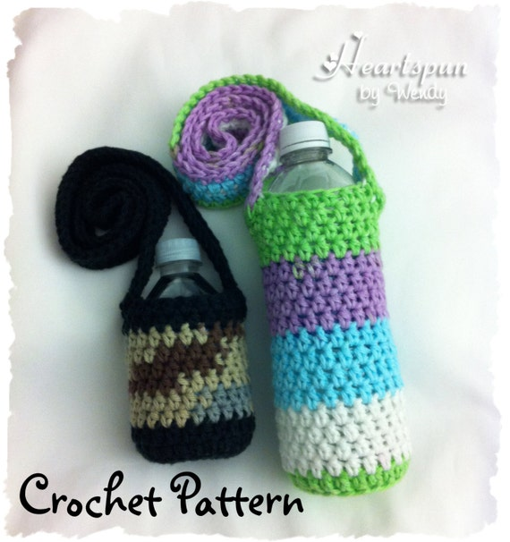 Crochet Pattern To Make A Changing Colors Water Bottle Holder Etsy